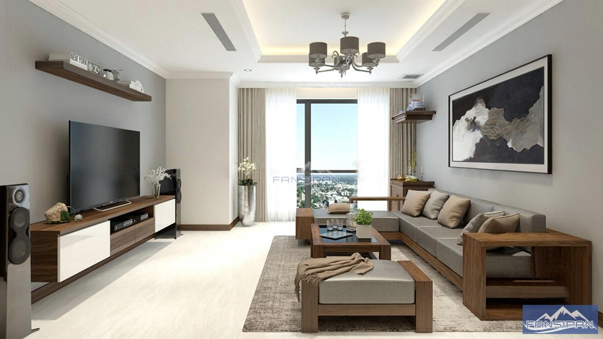 Bàn ghế sofa gỗ phòng khách BGF015