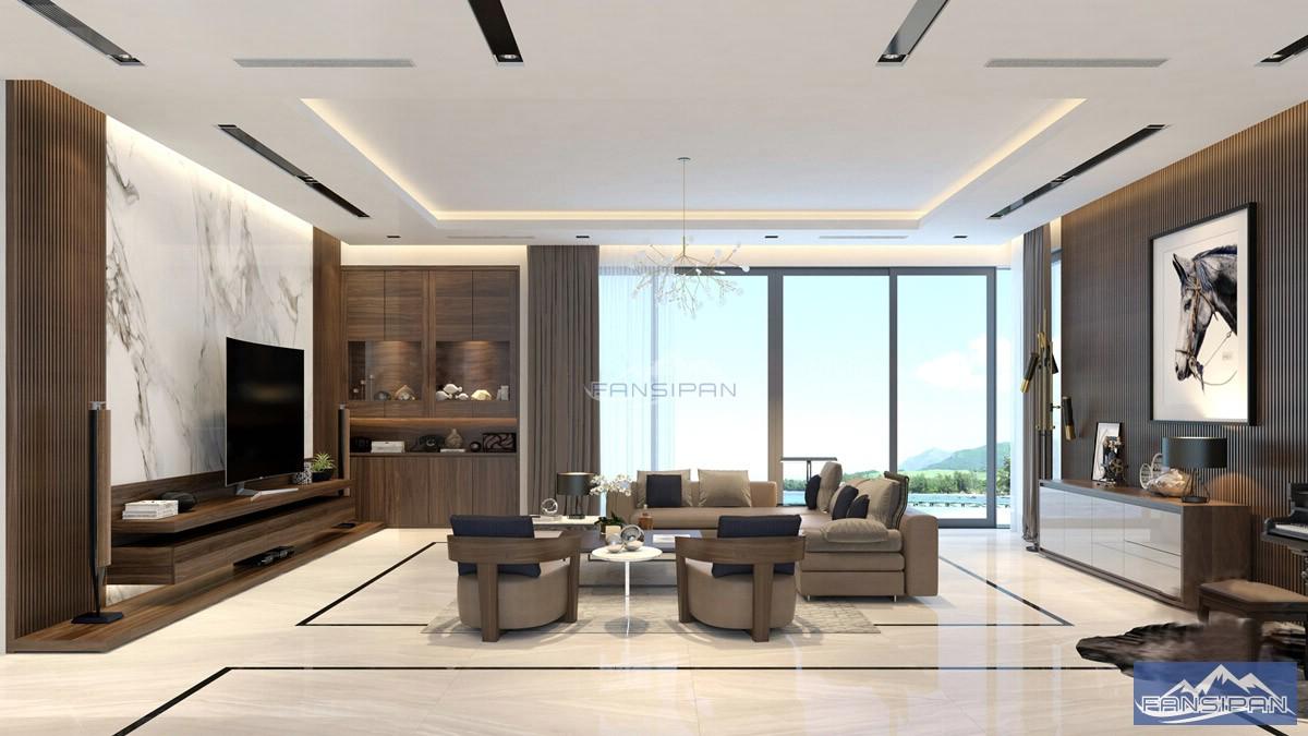 Bàn ghế sofa gỗ phòng khách BGF014