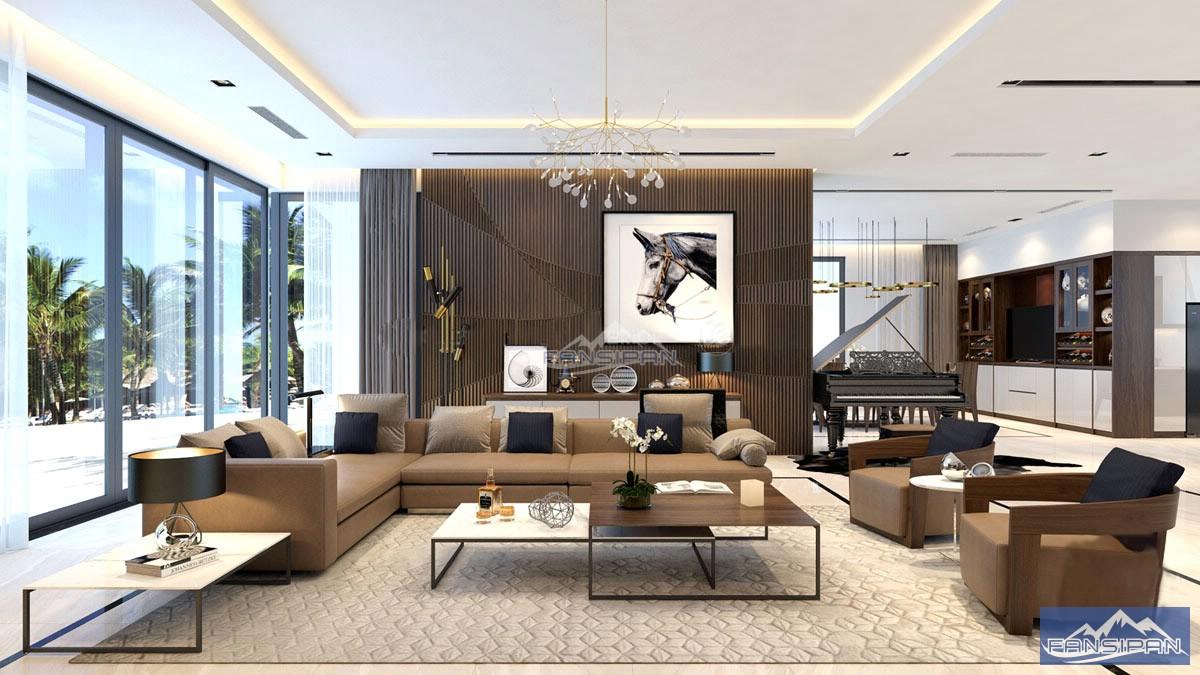 Bàn ghế sofa gỗ phòng khách BGF011
