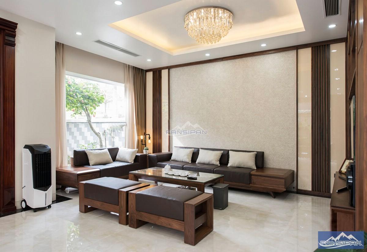 Bàn ghế sofa gỗ phòng khách BGF008