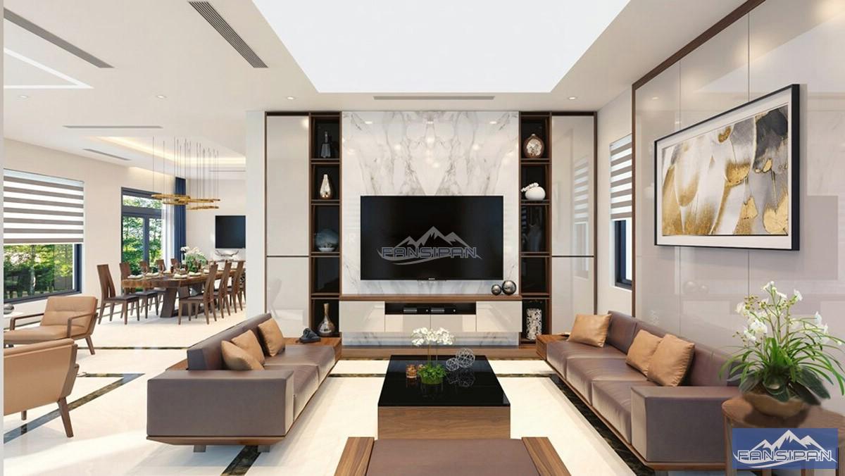 Bàn ghế sofa gỗ phòng khách BGF006