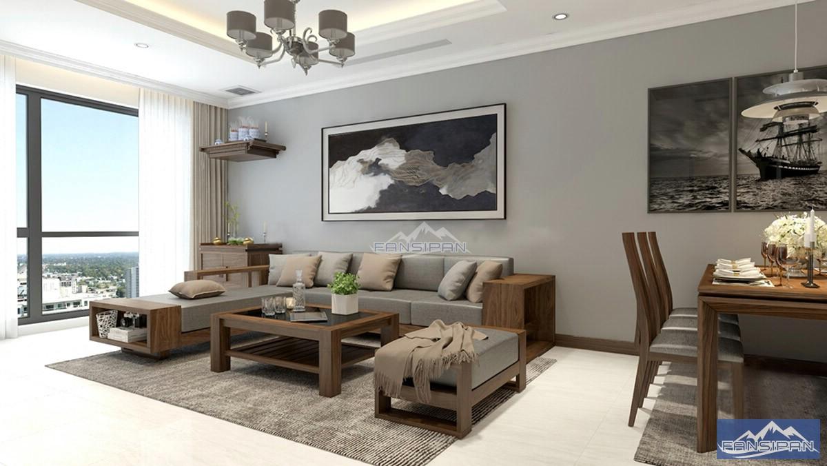 Bàn ghế sofa gỗ phòng khách BGF004