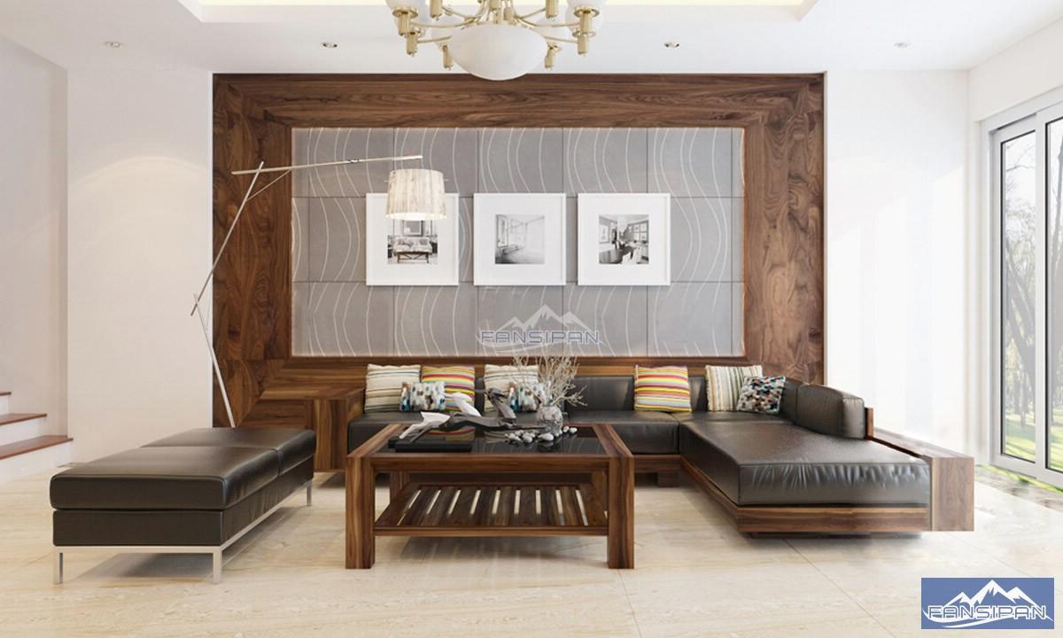 Bàn ghế sofa gỗ phòng khách BGF002