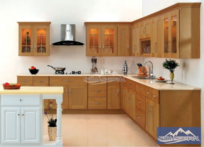 Tủ bếp gỗ hiện đại TBF006