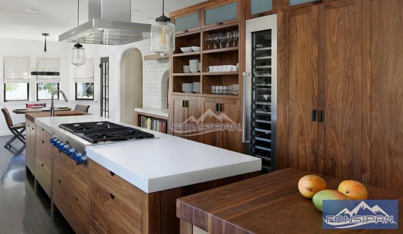 Tủ bếp gỗ hiện đại TBF007